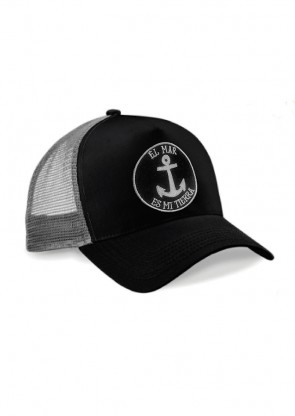 "Gorra ""El Mar es mi Tierra"" Black Grey"