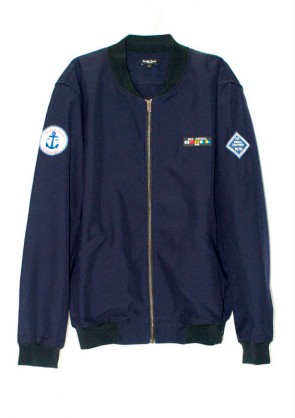 Bomber Navy color Marino