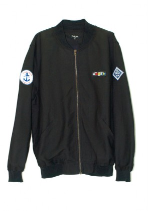 Bomber Navy color Negro