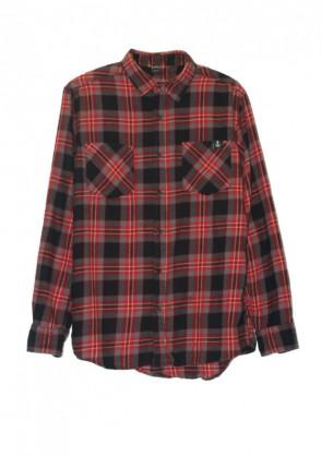 Camisa Cuadros Negro-Rojo