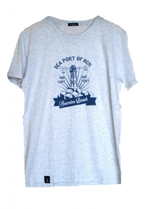 Camiseta Seaport Gris claro